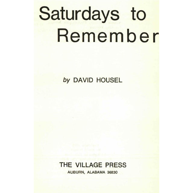 Image of 'Saturdays to Remember' Book by David Housel