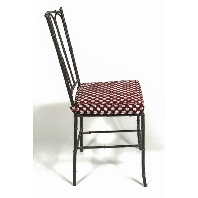 Metal Faux Bamboo Chairs - Pair - Image 7 of 7