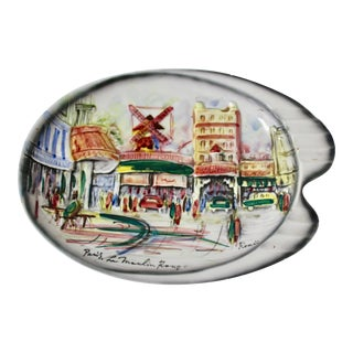 Paris Le Moulin Rouge Vintage Ceramic Hallmarked Plate