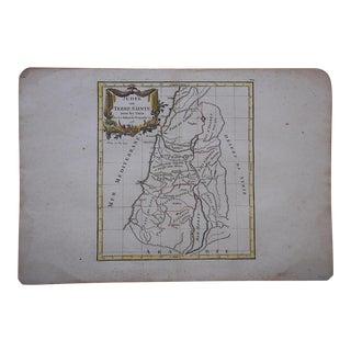 Antique 18th C. Map-Judea