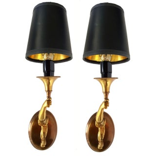 Vintage French Signed Charles & Fils Bronze Sconces - A Pair