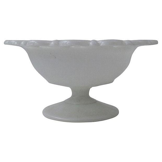 Milk Glass Covered Compote - Image 6 of 6