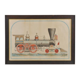 """A RARE AND IMPORTANT LARGE-SCALE DRAWING OF THE """"ONWARD , LOCOMOTIVE ENGINE"""", MADE BY HINKLEY & WILLIAMS (BOSTON)"""