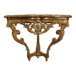 Beautiful Period Louis XIV Giltwood Console with Original Marble, Circa 1705