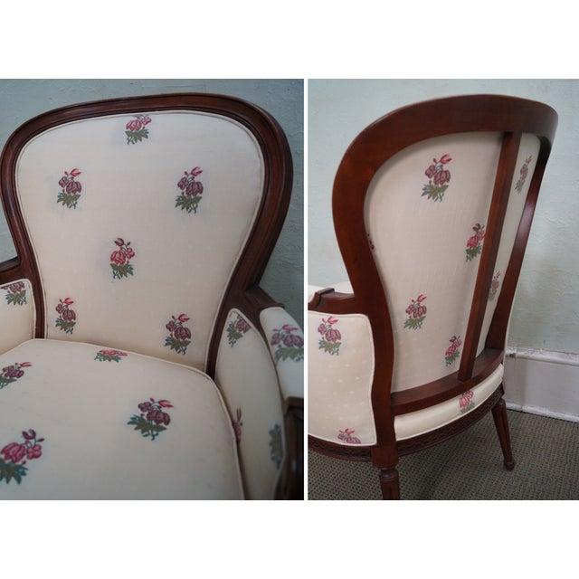 Kravet Mahogany French Louis XVI Chairs - Pair - Image 9 of 10