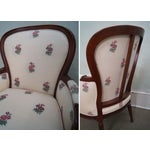 Image of Kravet Mahogany French Louis XVI Chairs - Pair