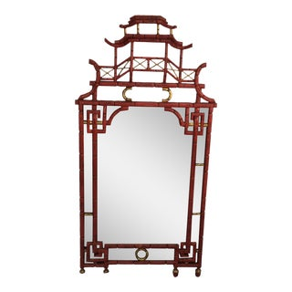 Italian Red Pagoda Mirror