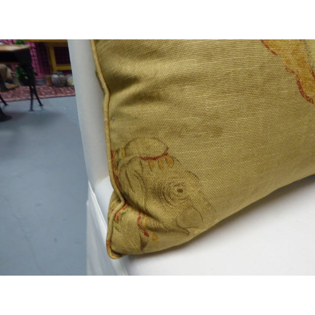 Image of Asian Print Pillows on Canvas - Set of 3