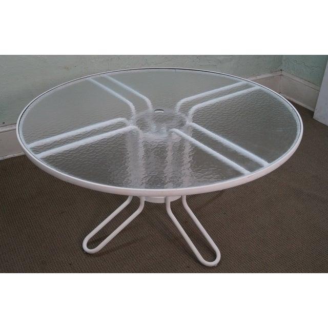 Image of Brown Jordan Aluminum Glass Top Patio Dining Table