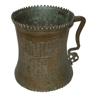 Antique Asian Brass Pitcher