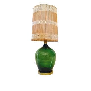 Mid-Century Demijohn Emerald Green Lamp