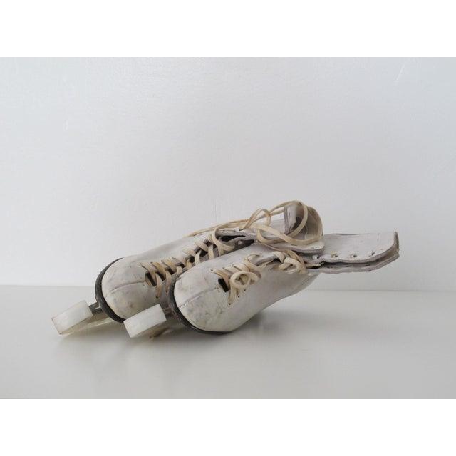 Image of Vintage White Ice Skates - Pair