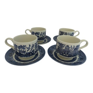 Blue Willow Teacups - Set of 4