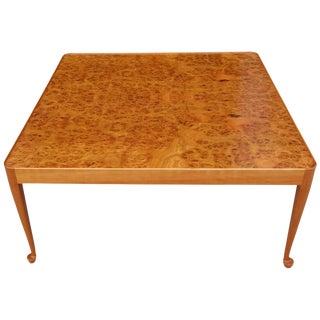 Josef Frank Mid-Century Burl Wood Coffee Table