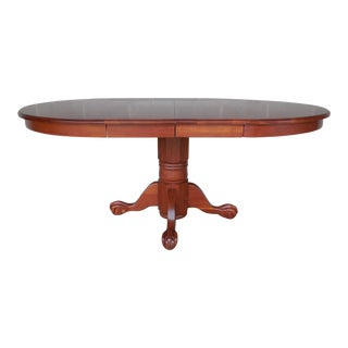 Tom Seely Cherry Claw Foot Dining Pedestal Table