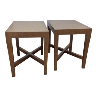 Modern Wood Side Tables - A Pair