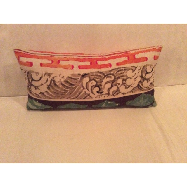 Jim Thompson Asian Style Linen Pillows - A Pair - Image 2 of 4