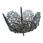 Image of Ornate Wrought Iron Tiered Tray