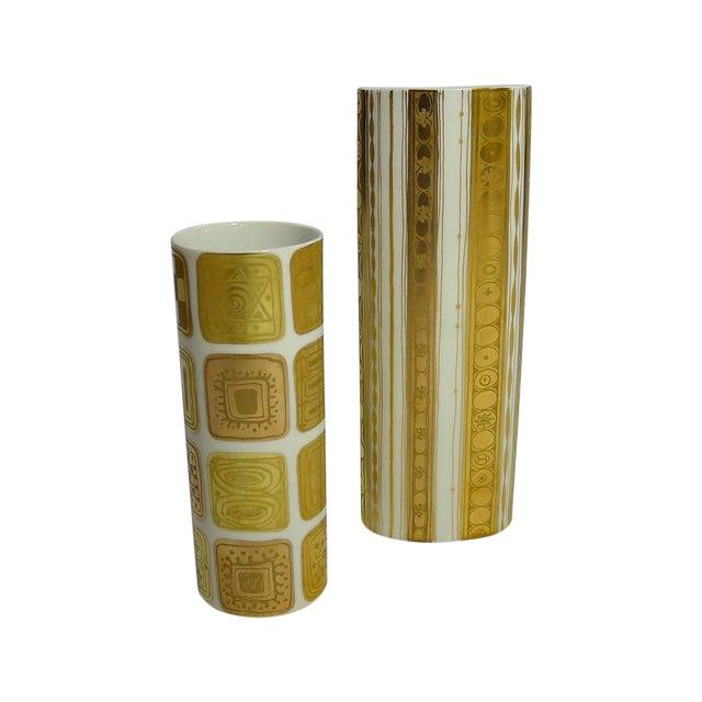 Bjorn Wiinblad Vintage Gold Vases - A Pair - Image 1 of 7