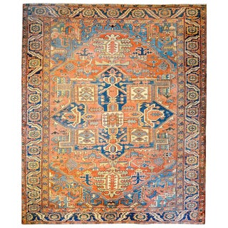 Amazing Early 20th Century Persian Heriz Rug