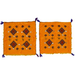 Moroccan Berber Wedding Shams - a Pair