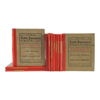 1906 Hubbard's Homes of Great Lovers Books - Set of 11