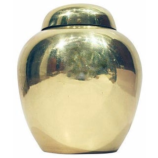 Solid Brass Lidded Urn