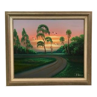 Landscape Painting by Florida Highwaymen Artist Al Black