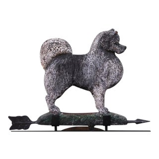 Amazing Hand-Carved and Painted Signed Dog Weathervane