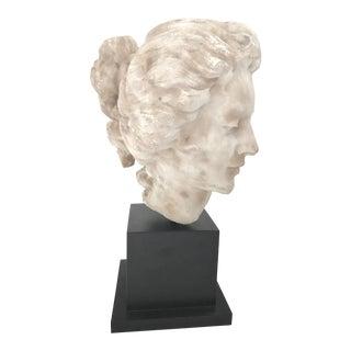French 18th Century Georgian Woman Marble Head Bust