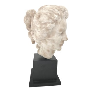 French 18th Century Georgian Woman Marble Head Bust