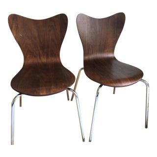 West Elm Scoop Back Chairs - A Pair