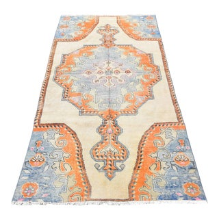 Turkish Handmade Muted Oushak Rug- 3′6″ × 7′4″