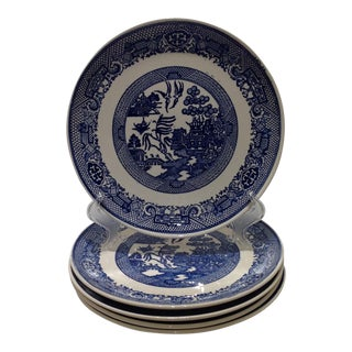 Vintage Blue Willow Plates - Set of 5