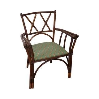 Antique Bent Wood Double X Back Arm Chair