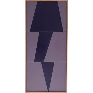 "Jason Trotter Original Acrylic Painting ""Purple on Point Triptych Jet0451"""