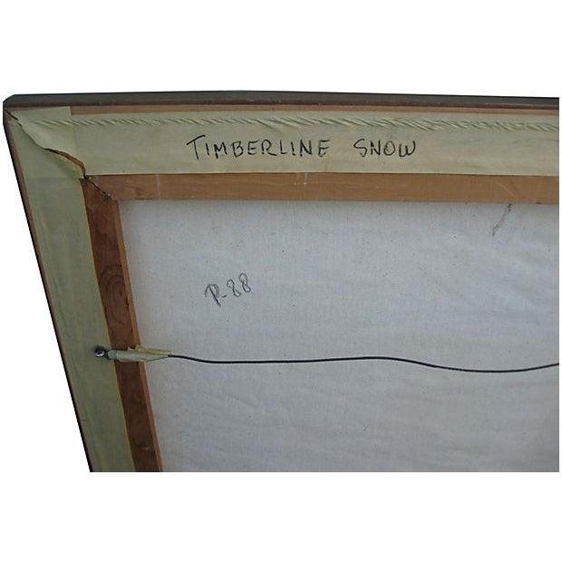 Image of Timberline Snow Original Oil
