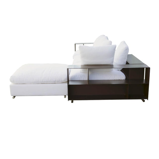 "Flexform ""Groundpiece"" Modular Sofa with Leather Armrest/Shelves, Made in Italy - Image 3 of 10"