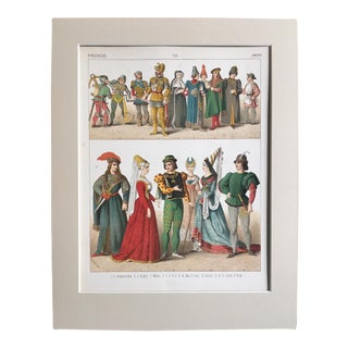 "19th Century Costume Print ""French 1400"""