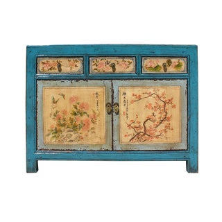 Chinese Distressed Floral Cabinet