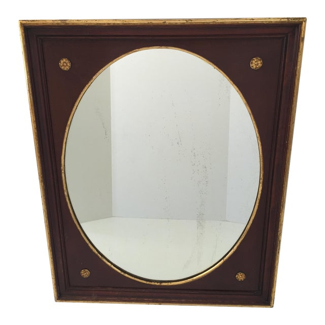 Antique Gilt Mahogany Oval Mirror - Image 1 of 4