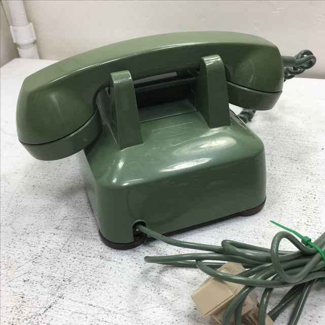 Moss Green Rotary Dial Telephone - Image 5 of 9
