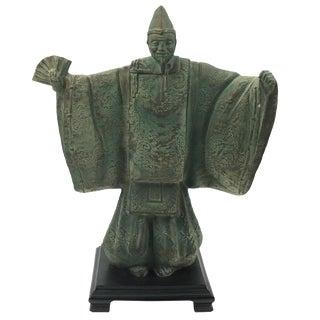 Vintage Bronze Chinese Emperor Statue