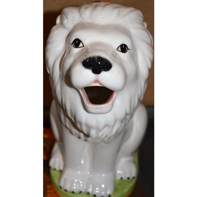 Vintage Italian Ceramic Lion PItcher - Image 9 of 10