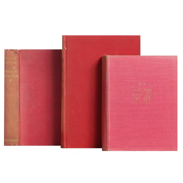 Image of Red French History & Culture Books - Set of 5