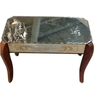 1940s Antique French Mirrored Table
