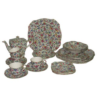 Royal Winton Chintz China Set - Service for 4