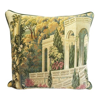 Vintage Italian Tapestry Accent Pillow Cover