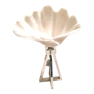 White Decorative Shell on Stand