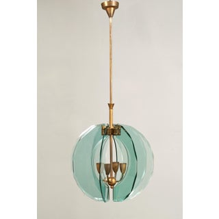 Glamorous Pendant Attributed to Cristal Art